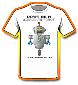 Corporate Robot Shirt